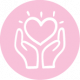 6294 icons hands heart